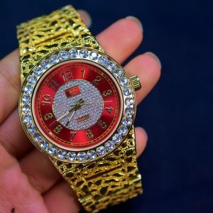 Other - Red face Iced Out Nugget Classic Watch